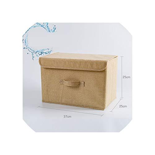 Cotton Linen Fabric Folding Storage Box Kids Toy Organizer Wardrobe Storage bin Drawer Plastic Container organizador maquillaje,02 -