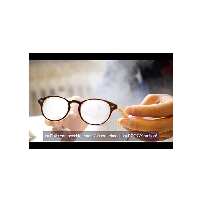 416bDUcOsvL Siempre, en todas partes e inmediatamente listo para usar: FOOGY es un paño 100% seco y NO se requieren líquidos adicionales Extra duradero: el paño de microfibra FOOGY para gafas se puede utilizar más de 200 veces y dura hasta 10 horas con una sola aplicación. Alta calidad, certificado, libre de PFOA y libre de PFAS: FOOGY está certificado (REACH, OEKO-TEX 100, MSDS, prueba textil Hermes) y cumple con los requisitos de alta calidad de la UE. toallitas antivaho