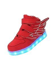 Merveilleux Wings Kid Boy Girl Fashion Light Up Shoes USB Charging LED Flashing Sneakers,#K1