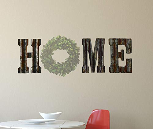Rusty Tin Letters HME to make a Rustic Metal Wall Decor HOME Galvanized Tin Decorations (Home Wall Letters)