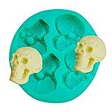 TAOtTAO Skull Head Silicone Fondant Cake Mould Chocolate