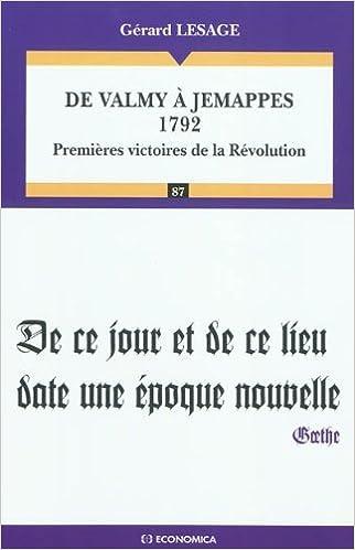 Livres gratuits en ligne De Valmy à Jemappes 1792 epub pdf