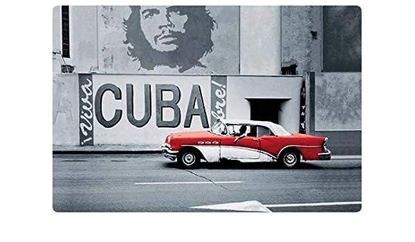 Cartel de Chapa genérica 30 x 20 cm Viva Cuba Rote Auto Che Guevara Oldtimer Cartel Tin Sign: Amazon.es: Juguetes y juegos