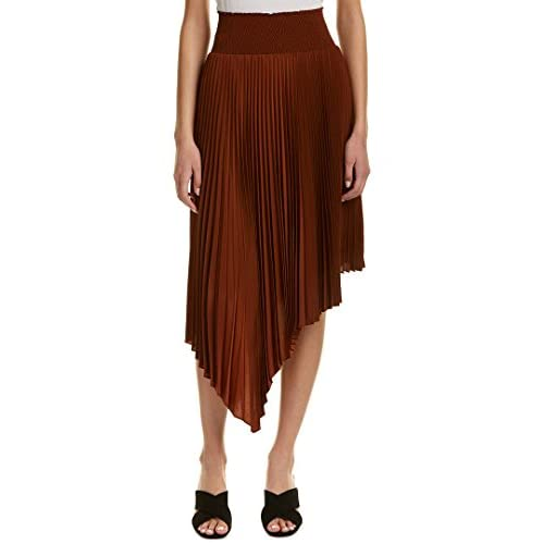 A.L.C. Womens Sofia Midi Skirt, 8, Orange free shipping