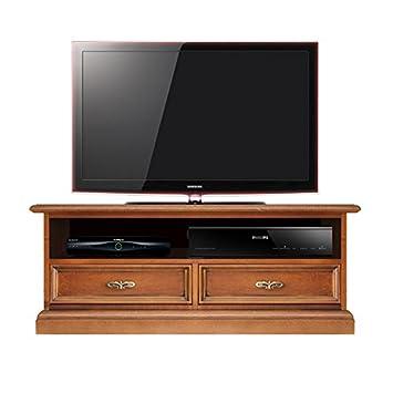Porta tv basso con vano per soudbar, mobile per tv stile classico ...