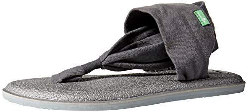 Sanuk Women's Yoga Sling 2 LX Sandal, Charcoal/Metallic/Silver, 11 M US ()