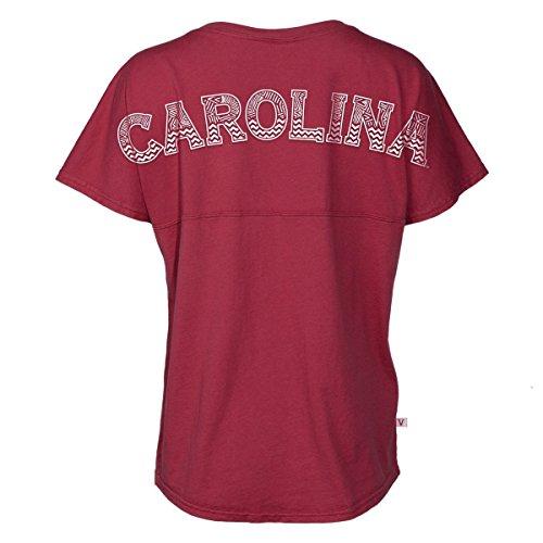 Official NCAA University of South Carolina Fighting Gamecocks USC COCKY SC Women's Short Sleeve Spirit Wear Jersey T-Shirt