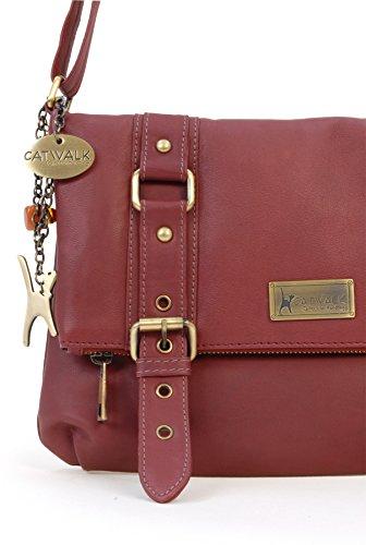 Abbey Collection Catwalk Rouge Foncé Handbags Abbey Femme wS1Hp