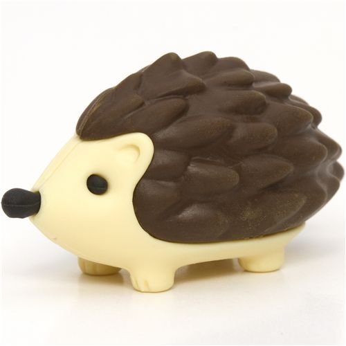 Iwako Brown Hedgehog Eraser By From Japan