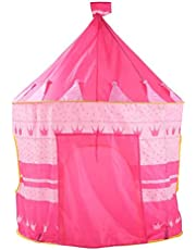 Pop Up Play Tent Kids Girl Princess Castle Outdoor House Tent Portable - Pink