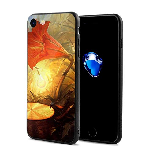 iPhone 8/8s Case Surreal Art Flowers Anti-Scratch PC Rubber Cover Lightweight Soft Slim Printed Protective Case
