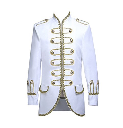 ROLECOS Mens Royal 18s Tuxedo Dress Suit Prince Theater Costume Blazer Pants White L for $<!--$63.99-->