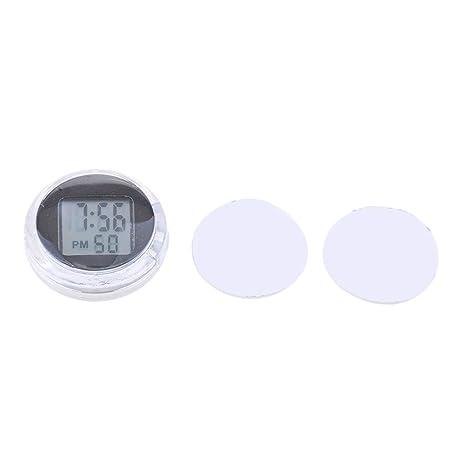 MagiDeal Reloj Digital Hora Minutos Segundos Pantalla LED Impermeable Motocicleta - Negro