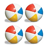 4-Pack Swimline Inflatable 36-Inch Classic Rainbow Giant Beach Balls | 4 x 90036