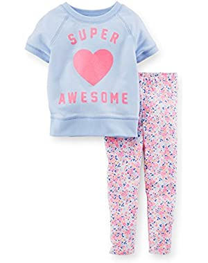 Baby Girl2-Piece Top & Capri Legging Set