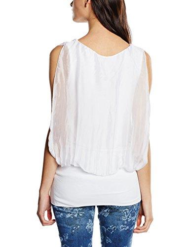 Zabaione Longtop, Blusa para Mujer Weiß (white 10001)
