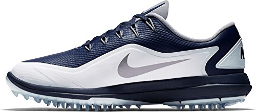 NIKE Men's Lunar Control Vapor 2 Golf Shoes, Thunder Blue/Reflect Silver-White, 12 M US