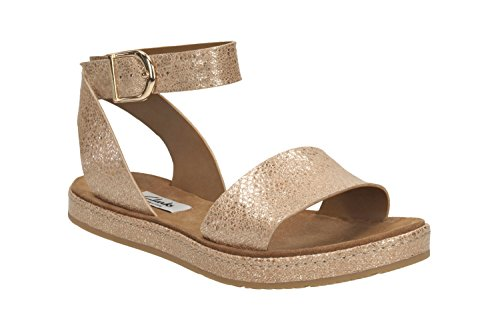 Clarks Romantic Moon Wide Fit - Champagne