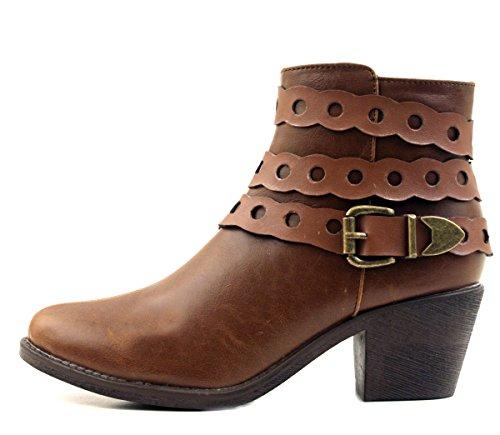 Luckers Mujeres Chelsea Botaie Decor-marrón