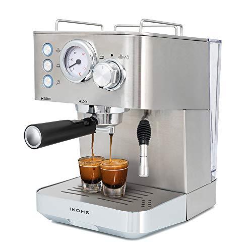 IKOHS Create Cafetera THERA Classic – Cafetera Espress Semiautomática para Espresso y Cappuccinos, Presión 20 Bares…