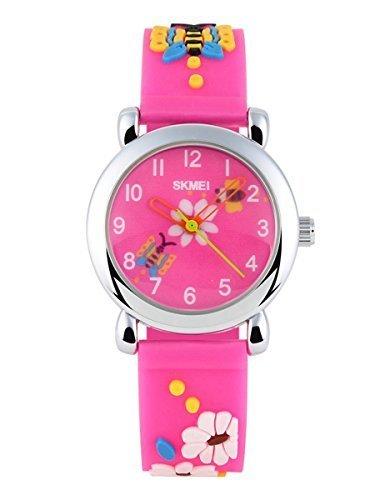 SKMEI Kids SK1047B 3D Creative Novelty Cute Japan Quartz Waterproof Wrist Watch Rose Red