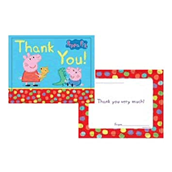 Peppa Pig Party Thank You Cards Amazon Co Uk Toys Games