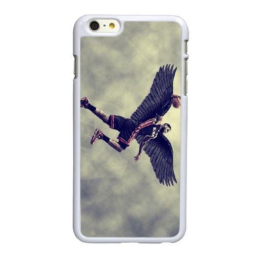 D7R62 Lebron roi James Black Wings de Dunk H2Y0GY coque iPhone 6 4.7 pouces Cas de couverture de téléphone portable coque blanche KW2WUD6TZ