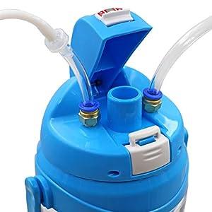 livestocktool.com Portable Manual Milking Machine 3L/0.8 Gallon Double Head Milker for Sheep Goat Cow Milking Kit