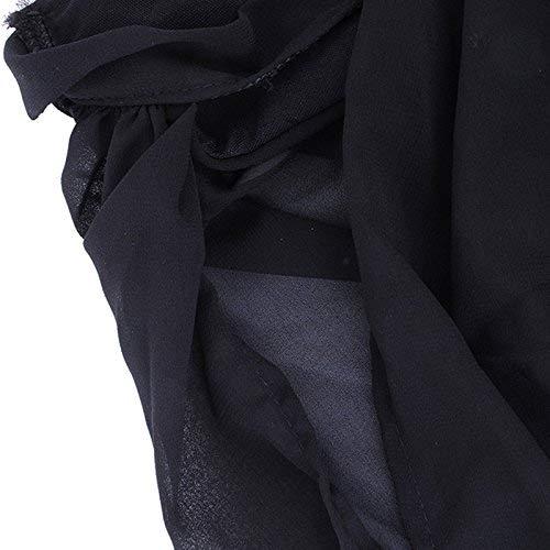 Femme Manches Mousseline Casual Schwarz Manche Mode Shirts sans paules Et Uni T Jeune Bandage T Top Rond Bowknot lgant Nues Shirts Tops Plier Mince Chic Col FXpw0dqF