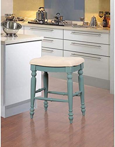Linon Katy Backless Counter Stool White, Cream, Off-White 141[並行輸入]