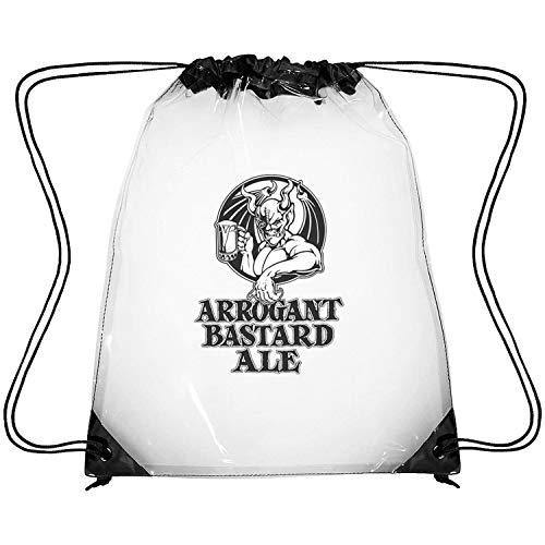 uter ewjrt Waterproof Arrogant-Bastard-Ale-from-Stone-Brewing-Co.-Beer- Clear Drawstring Backpack Sport Gym Drawstring Bag
