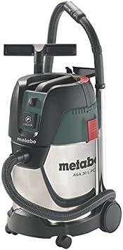 Metabo 6.02015.00 602015000-Aspirador para seco y húmedo ASA 30 L PC INOX 1200W depósito 30 litros, Negro, Verde, Plata: Amazon.es: Coche y moto