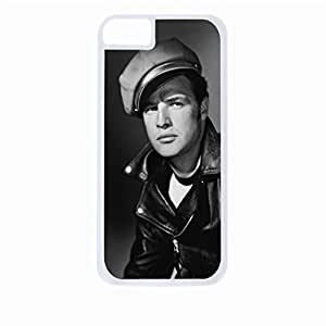 Marlon Brando- Hard White Plastic Snap - On Case-Apple Iphone 6 Plus Only - Great Quality!