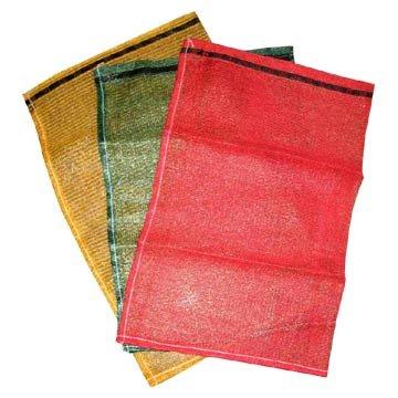 Plastic mesh Produce Woven Leno Drawstring Bag 18x32 (400 count) Red