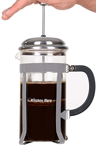 Kitchen Hero French Press Coffee Maker - Best for Hot or Cold Brew, Tea or Espresso. With ...