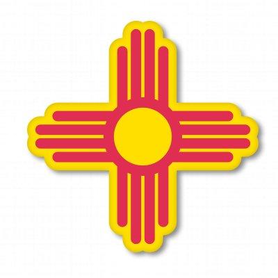 Symbol Vinyl Stickers - New Mexico Sun State Symbol Vinyl Sticker - Car Window Bumper Laptop - SELECT SIZE