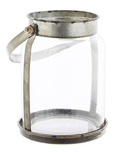 (KMJ Glass Vase Jar with Galvanized Metal Carrier, 6
