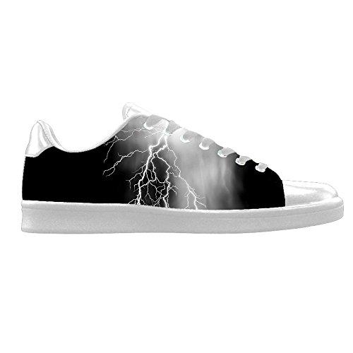 Custom Beleuchtung Mens Canvas shoes Schuhe Lace-up High-top Sneakers Segeltuchschuhe Leinwand-Schuh-Turnschuhe D