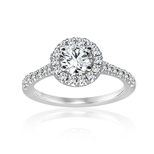 Diamond (Clarity SI2-I1, Color G-H) Engagement Ring (3/4 Carat Round Cut Diamond)