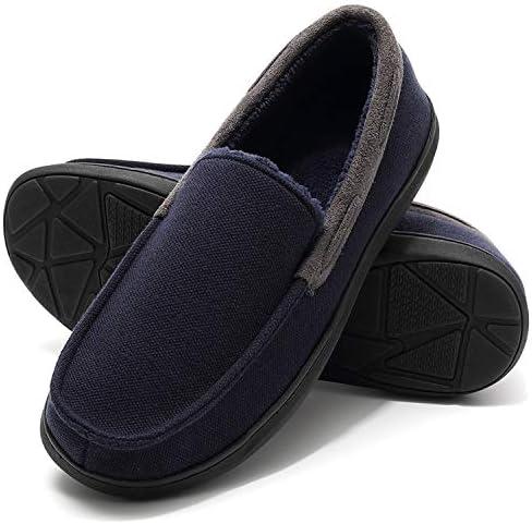 Men's Indoor Cozy Moccasin Slippers
