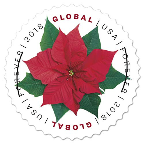 (USPS Global Poinsettia Stamp (1 Sheet (10 Stamps)))