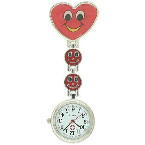 Nurse Lapel Clip Heart Watch Hanging Medical Doctor Pocket Watch Quartz Movement Doctor Hospital Brooch Easy Clean Watch