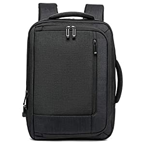 Travel Business Laptop Backpack for Men and Women,Large Laptop Bag with USB Charging Port Lock,Lightweight College School Computer Bag,Black