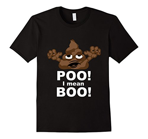 Mens POO! I mean Boo! Poop emoji halloween custome Small (Customes For Men)