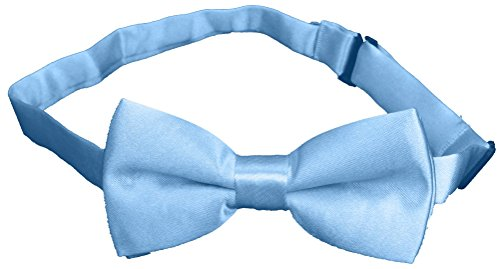 Subtle Addition Little Boys Bow Tie, Toddlers to Kids (One Size, Light Blue) ()