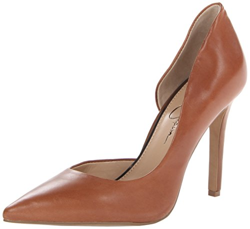 (Jessica Simpson Women's Claudette Rubber Dress Pump,Burnt Umber,9 M US)