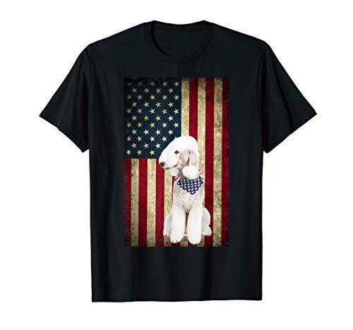 Bedlington Terriers dog bandana 4th of July t-shirt ()