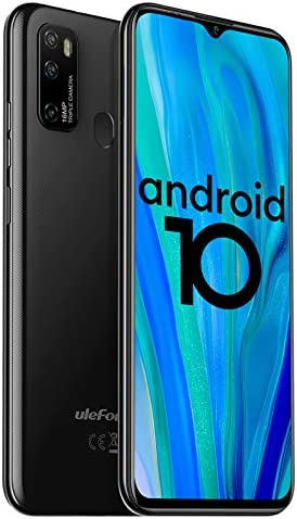 "Ulefone Note 9P 4G Unlocked Cell Phones, 6.52"" HD+ Waterdrop Screen,16MP Triple Rear Camera, Android 10 Octa-Core 4GB + 64GB,4500mAh Big Battery, Face Unlock Finger Reader Unlocked Smartphones - Black"