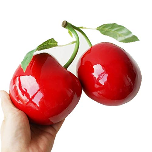 (XINFU 1-Piece Artificial Big Cherry Simulation Food Model Cabinet Decoration Photography Props)