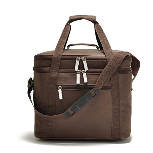 vacuum-reusable-large-cooler-tote-baginsulated-nylon-lunch-bag-with-adjustable-shoulder-strap-brown